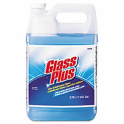 Glass Plus Glass Cleaner, Floral, 1gal Bottle, 4/Carton