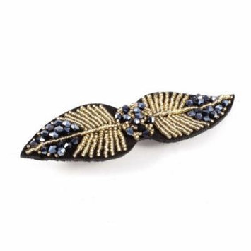 Headwear Leaf Shape Alligator Hair Clip Hairclip Black Steel Blue for Ladies