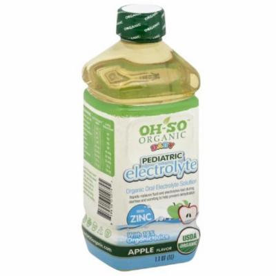 OH-SO Organic Baby Pediatric Electrolyte Apple Flavor Solution, 33.8 fl oz, (Pack of 6)
