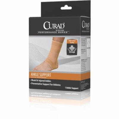 Curad Elastic Pull-Over Ankle Support with Open Heel