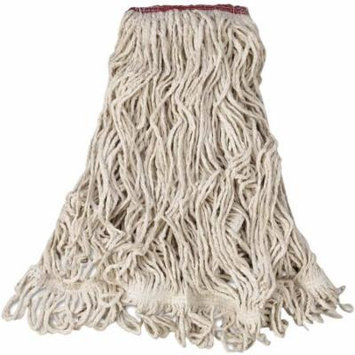 Rubbermaid Commercial Cotton/Synthetic Super Stitch Blend Mop Head, White, Large