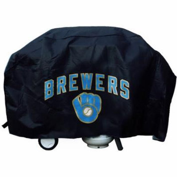MLB Rico Industries Deluxe Grill Cover, Milwaukee Brewers Ball and Glove