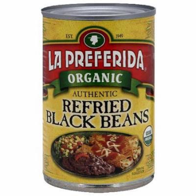 La Preferida Refried Black Beans, 15 oz (Pack of 12)