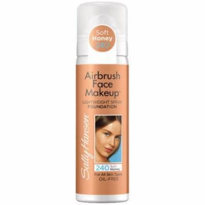 Sally Hansen Airbrush Face Makeup Foundation, 240 Soft Honey, 1 oz