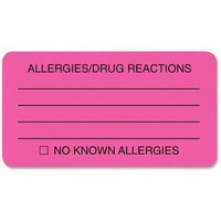 Tabbies ALLERY/DRUG REACTIONS Alert Labels