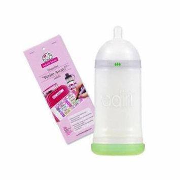 Adiri NxGen Stage 2 (9.5 oz) Nurser with Self Laminating Bottle Labels, 6 - 9 Months, Option 2