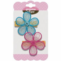 Gimme Clips Berrylicious Clips, Blue and Pink, 2 count