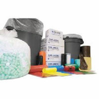 Inteplast Group 30 Gallon High Density Can Liner, 10 Micron in Black