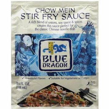 Blue Dragon Chow Mein Stir Fry Sauce, 3.6 fl oz, (Pack of 12)