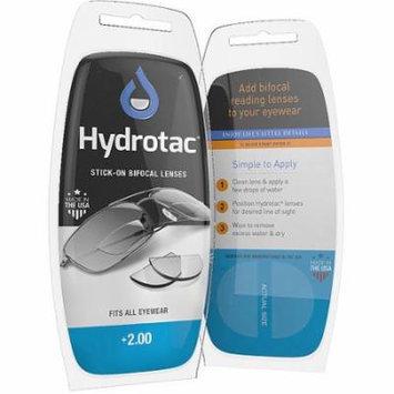 Hydrotac Stick-on Bifocal Lenses, 2.00