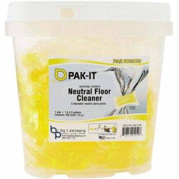 PAK-IT Neutral Floor Cleaner PAKs, 100 count