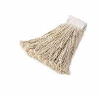 Rubbermaid Commercial Economy 20 oz. Cut-End Cotton Mop Heads, White, 12 count