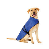 Fashion Pet Essential Blue Blanket Coat for Dogs - Large