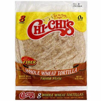Chi-Chi's Whole Wheat Fajita Style Tortillas, 8ct (Pack of 12)