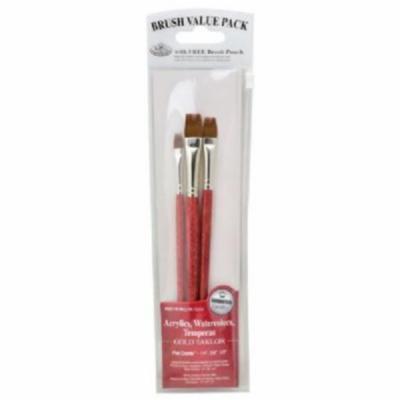 Royal & Langnickel RSET-9148 Red 3-Piece Brush Set 4