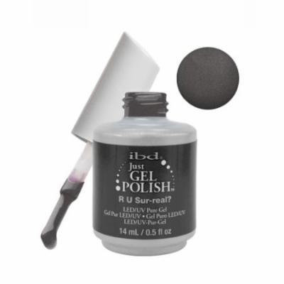 IBD Just Gel 0.5 oz Soak Off Nail Polish Dark Gray, R U Sur-real, 56979