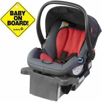 Phil & Teds - Alpha Infant Car Seat w/Baby on Board Sign - Flint/Red