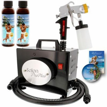 SALON PRO PLUS Sunless Airbrush TURBINE SPRAY TANNING KIT Simple Tan Solution
