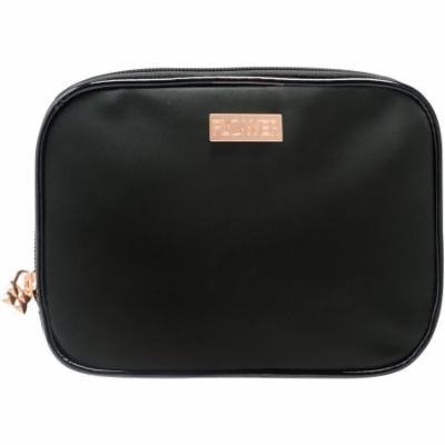 FLOWER Beauty Multi Fold Out Cosmetic Case Bag, Black