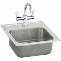 Elkay Pacemaker 15'' x 15'' Self-Rimming Bar Sink with Faucet