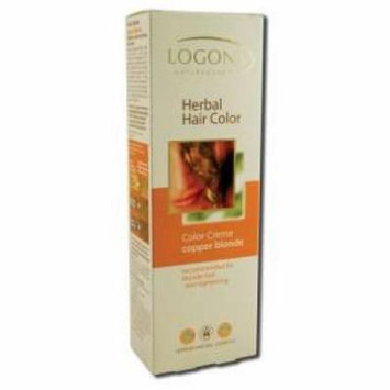 Herbal Hair Color Cream Copper Blonde Logona 5.1 oz Cream