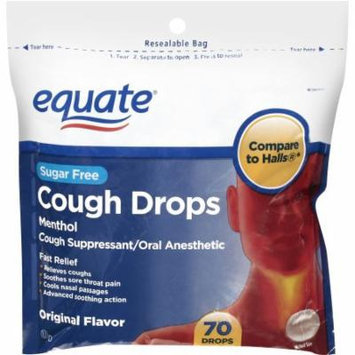 Equate Sugar Free Original Flavor Cough Drops - 70 Ct