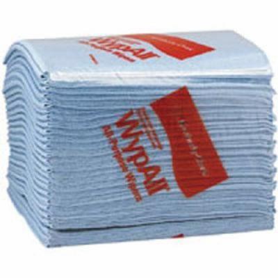Kimberly-Clark WypAll L40 Wipers - 12.5''x14.4'' blue q-foldwypall wiper 1-ply 56 pe