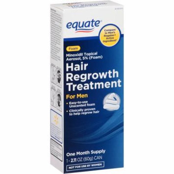 Equate Hair Regrowth Treatment for Men Minoxidil Topical Aerosol 5% (Foam), 2.11 oz