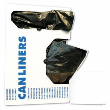 Boardwalk 8-10 Gallon Low-Density Trash Bags, Black, 500 count