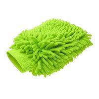 Green Microfiber Chenille Car Mitten Brush Cleaning