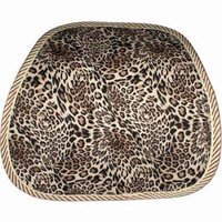 QVS Ergonomic Lumbar Back Support, Leopard