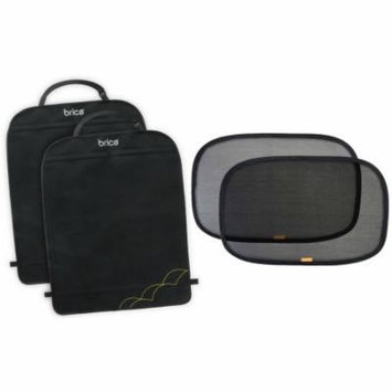 2 Pack Brica Deluxe Kick Mat Back Seat Protectors with Window Shades