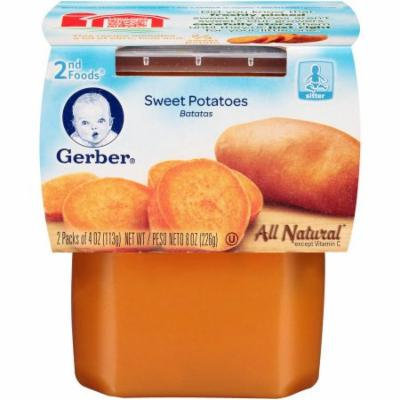 Gerber 2nd Foods Sweet Potatoes, 4 oz, 2 count, (Pack of 8)