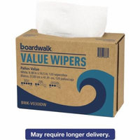 Boardwalk Value Wipers, White, 900 count