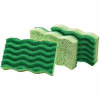 Libman Medium-Duty Sponges, Green, 3 count