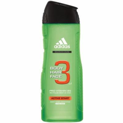 adidas 3 in 1 Active Start Body Wash, Shampoo & Face Wash, 16 fl oz