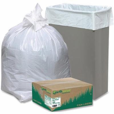 Earthsense Commercial Tall Kitchen Trash Bags, White, 13 gal, 150 count