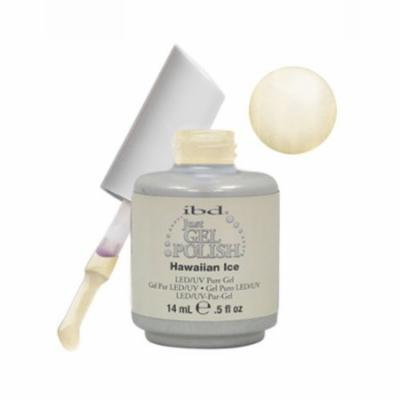 IBD Just Gel 0.5oz Soak Off Nail Polish White, HAWAIIAN ICE, 56543