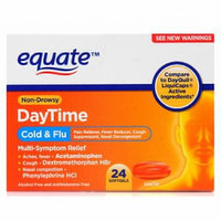 Equate Non-Drowsy Daytime Cold & Flu Multi-Symptom Relief Softgels, 24 count