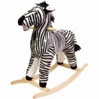 Happy Trails Plush Rocking Animal, Zebra