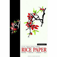 Jack Richeson Acid-Free Rice Paper Pad, 12