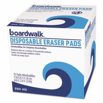 Boardwalk Disposable Cleaning Eraser Pads (Pack of 10)