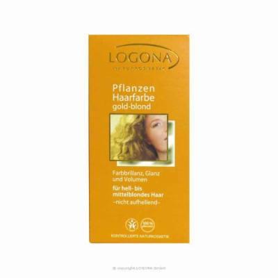 Logona Kosmetik: Pure Vegetable Hair Color Powders, Golden Blonde 3.5 oz