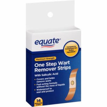 Equate Maximum Strength One Step Wart Remover Strips, 14 count
