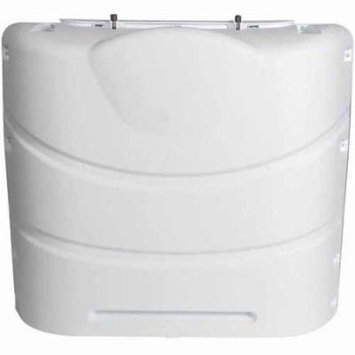 Camco Propane Tank Cover, PolarWhite, Fits 20# Steel Double Tank