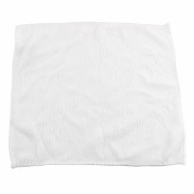 White Microfiber Absorbent Face Clean Towels Cleaning Cloths Washcloths 25x25cm
