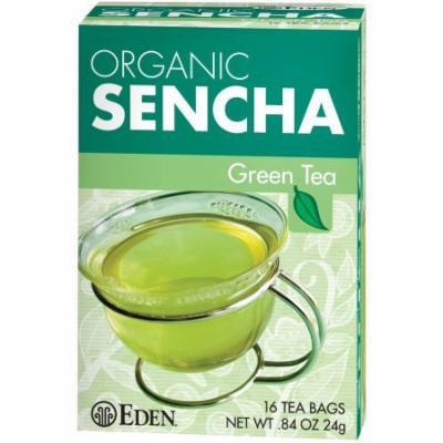 Eden Organic Sencha Green Tea Bags, 16 count, (Pack of 6)