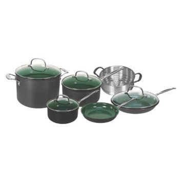 As Seen on TV As Seen On TV Orgreenic 10 Piece Ceramic Interior Non-Stick Cookware