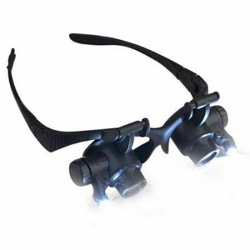 Insten 10X / 20X Magnifier Magnifying LED Light Glasses Type Eye Glass Loupe for Watch Repair Jeweler Jewelry Appraisal
