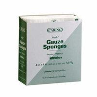 Caring Woven Sterile Gauze Sponges PRM4412